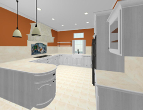 3D kitchen - full view