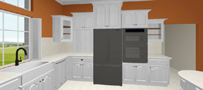 3D kitchen - appliance wall