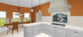 3D kitchen - toward nook